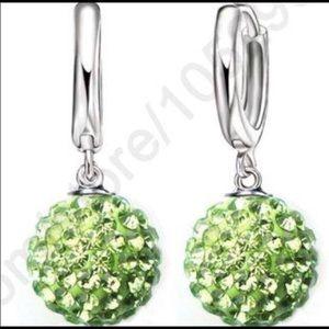 New Years ball drop crystal earrings